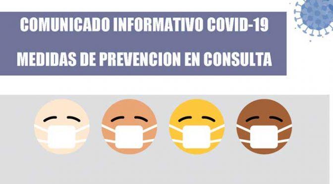 SE REANUDAN LAS CONSULTAS: COMUNICADO INFORMATIVO COVID-19 – Dr. Carlos Puerto